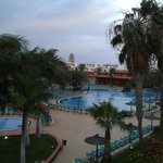 Evening view of pool from our room