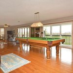 Billiard Table and walk out to deck and view
