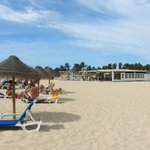 Hotel's beach area