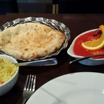 Punjabi Lamb massala with pillai rivlce and Peshwari naan.  Not hot but full of flavour.