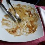 Era un plato de huevos rotos, estaba buenísimo, he aquí la prueba