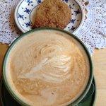 Latte + cookie a l'avoine