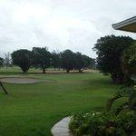 perto ao campo de golfe