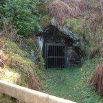 an old mine entrance
