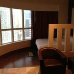 Sleeping area and corner window