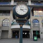 Rolex at entrance to grandstand.