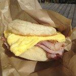 The Traditional Breakfast Sandwich!! YUMMY!