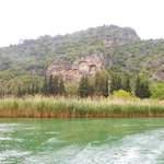 Tombs along Dalyan River