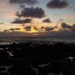 Sunrise on the rock beach
