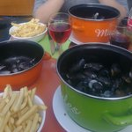 """""""Moules frites"""" served at the restaurant"""