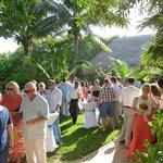 Cenote area for pre-wedding gathering