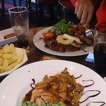 Hunters chicken and mixed grill...delicious!