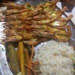 Mozambican style king prawns