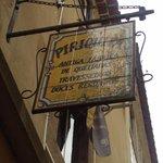 Cartel de la Pasteleria Piriquita