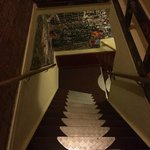 Stairs up to rooms.