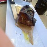 Roast Lamp Rump served pink with pistachio sauce....Simply Beautiful!