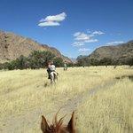 Open terrain by horseback.