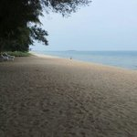 The beach directly to bay view bech resort left side