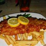 Fresh deep fried fish & chips