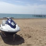 Kenan the watersports man hires out jetski's for €45 per 15 mins