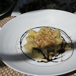 Short Rib Ravioli  with Balsamic Reduction, Gremolata, Horseradish Foam, and Big Shadow