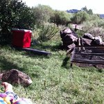 espacio de camping, parrilla