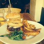 The beautiful tasty and impressive George Tower Burger!