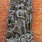 Sculpture of the Warsaw Ghetto Uprising In the Warsaw Ghetto Square.