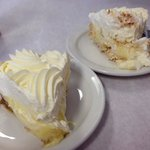 Banana Cream and Coconut Cream pies - amazing!