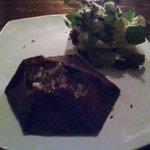 Camarão com gorgonzola