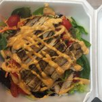 Grilled Chicken Breast Salad with Thousand Island Dressing