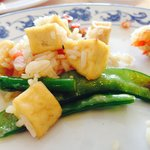 Fried rice with vegetables and tofu