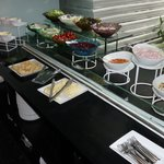 Breakfast salad and yoghurt bar - unrefrigerated with little bugs flying around