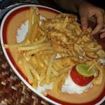 Fried calamari with homemade french fries