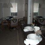 In-room sink and vanity