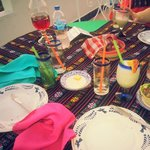 Our colorful table.