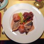 Fisch Duett mit Camargue Reis und Gemüse