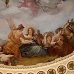Close up of rotunda ceiling painting