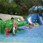 Part of the pool dedicated to children with slides