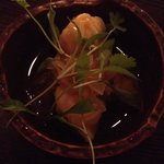 Lobster dumplings with marigold