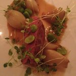 Stunning veal with crayfish reduction
