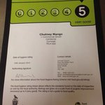 Only 5 star rated Indian in Camborne