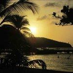 Vue de la plage de l'Anse à l'Ane