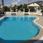 the excellent pool area