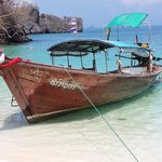 Our Long Tail boat from beach to Poda Island