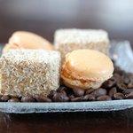 Petit fours: Salted caramel macaron and marshmellow