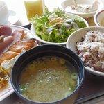 以前より北海道らしさが出てきた朝食ビュッフェ。