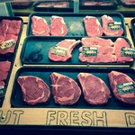 we couldnt resist taking a photo of the meat counter!
