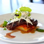 Restaurant Botanica - Mandagery Creek Venison, sweet potato, cumin, mint and celeriac remoulade