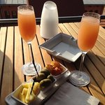 Bellinis in the sunset